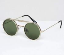 Runde Sonnenbrille Silber