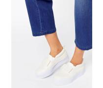 DARCY Sneakers mit flachem Plateauabsatz und Schleife Weiß