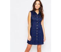 Jeanskleid mit Knöpfen vorn Blau