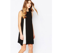 Kleid mit Schlitz vorne Schwarz