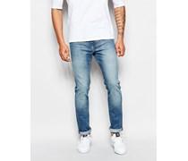 Friday Enge Jeans aus Baumwolle in halbverwaschenem Blau Blau