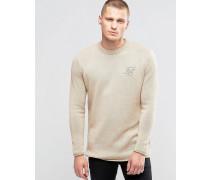 Pullover mit ungesäumten Kanten Steingrau