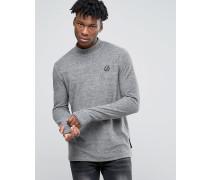 Langärmliges Shirt mit Stehkragen Grau