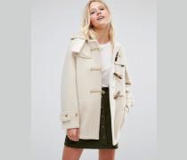 Monty Halblanger Mantel in Weiß Weiß