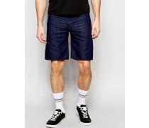 Bustshort Gerade geschnittene Jeansshorts in dunkler Rinse-Waschung Weiß