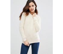 Nora Flauschiger Pullover Cremeweiß