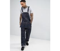 NY 5th Robuste, locker sitzende Jeans-Latzhose Marineblau