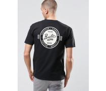 T-Shirt mit Retro-Print auf der Rückseite Schwarz