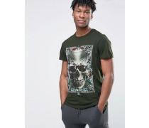T-Shirt mit Tropendesign Grün