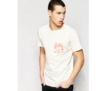 Sarek Hawaii T-Shirt mit Tasche Weiß