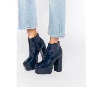 ELLEN Ankle-Boots mit Plateausohle Marineblau