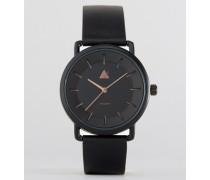 Uhr in Schwarz mit Zeiger in Roségold Schwarz