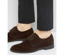 Derby-Schuhe in Dunkelbraun Braun