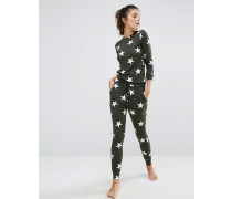 Schlafanzug-Jogginghose mit Sternenmuster Grün