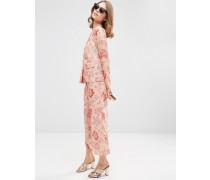 Schlafanzughose mit Blumenmuster Kombiteil Rosa
