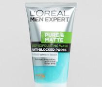 Paris Men Expert Pure & Matte Peeling-Gesichtsreiniger 150 ml Mehrfarbig