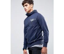 Kapuzensweatshirt mit durchgehendem Reißverschluss Marineblau