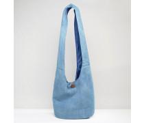 Lässige Chambray-Strandtasche Marineblau