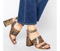 Newdy Sandalen mit mittelhohem Absatz und überkreuzten Riemen Mehrfarbig