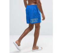 Blaue Badeshorts mit rückseitigem Logo Blau