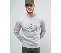 Barmby Graues Sweatshirt mit Logo auf der Brust Grau