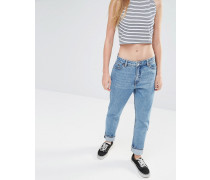 Kimomo Mom-Jeans Blau