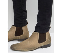 Broker Chelsea-Stiefel aus Wildleder Bronze