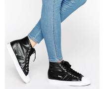Coaster Hohe Metallic-Sneaker Schwarz