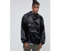 Schwarze Jacke zum Überstreifen Schwarz