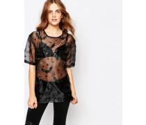Halloween Bat Übergroßes T-Shirt Schwarz