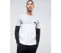 Nicce Langärmliges Shirt mit Blockeinsatz Schwarz
