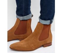 Biondi Chelsea-Stiefel aus Wildleder Bronze