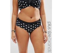 Katana Große Größen Bikinihose mit Punktemuster Schwarz