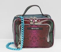Lunch-Tasche mit Schlangenprint Mehrfarbig