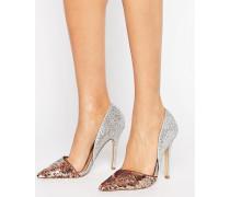 Andi Zweiteilige Schuhe in Metallic mit Absatz Silber