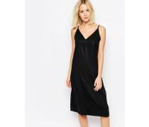Kleid mit Rückenakzent Schwarz