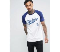 Raglan-T-Shirt mit 'LA. Dodgers'-Print Weiß