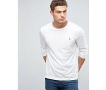 Exklusives Langarmshirt mit Logo in Weiß Weiß