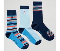 Socken im 3er Pack Blau