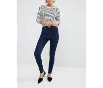 Knöchellange Skinny-Jeans in Indigo Marineblau