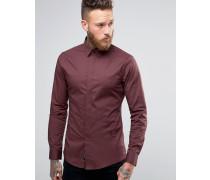 Elegantes Stretchhemd Rot