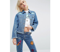 x Lee Jeansjacke mit Space-Stickerei Blau