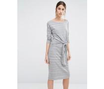 Louise Kleid mit Bindung vorne Grau