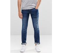 Cirrus Enge Jeans in Mittelblau Blau