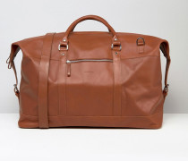 Jordan Braune Reisetasche aus Leder Schwarz