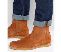 Chelsea-Stiefel aus Wildleder Bronze