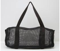 Große Reisetasche aus Netzstoff Schwarz