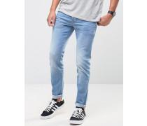 Skinny-Jeans in heller Denim-Waschung Blau