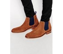 Camroon Chelsea-Stiefel aus Wildleder Braun