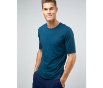 T-Shirt mit Raglan-Detail hinten Blau